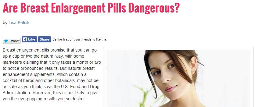 are breast enlargement pills dangerous