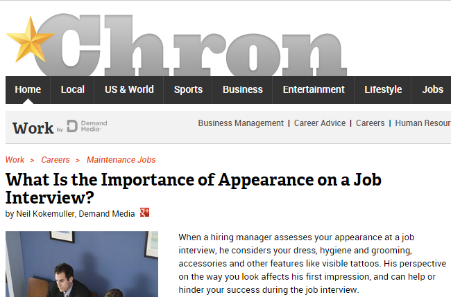 What is The Importance of Appearance on a Job Interview